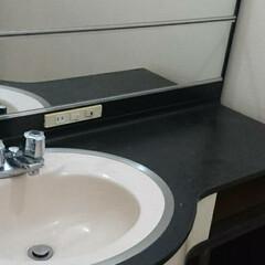 洗面カウンター/洗面所/洗面台/洗面/インテリア/トイレ/... 洗面所DIYのbefore、afterで…(3枚目)