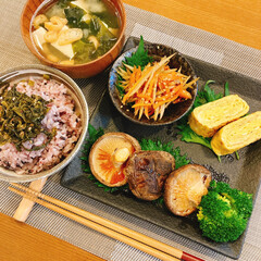 「今日のお昼ご飯✨ 父親手作りの高菜で、手…」(1枚目)
