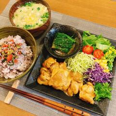 料理/おうちごはん 夜ご飯はタンドリーチキンでした☺️✨