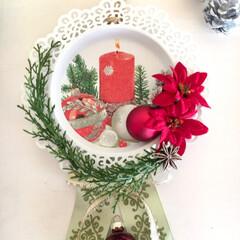 プリザーブドフラワー/アーティフィシャルフラワー/造花/フォロー大歓迎/インテリア/雑貨/... 昨年、クリスマス用に、 IKEAのキャン…(1枚目)