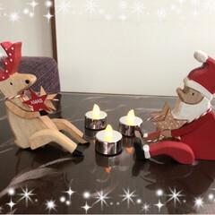 ローソク/トナカイ/サンタ/雑貨/玄関/クリスマス 今日、買ったクリスマス雑貨🎄☃️❄️ 可…