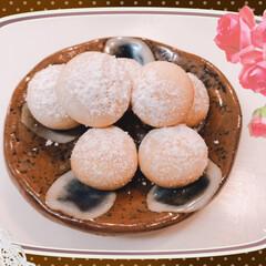 ハロウィン/クッキー/お菓子/スイーツ スノーボールを作りました💕 匂いに釣られ…