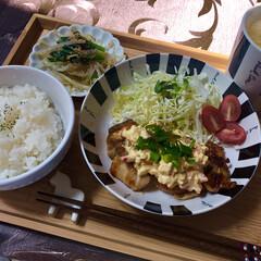美味しい/簡単/oisix/無限もやし/もやし/チキン南蛮/... ᴴᴱᴸᴸᴼ¨̮  今日の息子の昼食🍴  …