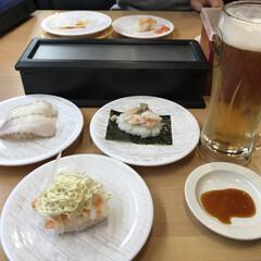 回転寿司/ビール/ご飯/ディナー/お寿司/フォロー大歓迎/... 今日の夜は回転寿司🍣