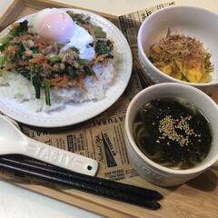 夕食/ディナー/韓国風スープ/韓国/かぼっコリー/ビビンバ/...  こんばんは🌙.*·̩͙.。★*゚  皆…