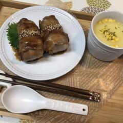 肉巻きおにぎり/おにぎり/お昼ご飯/ランチ/料理/手作り/... こんにちは⋆*❁*  きょうのお昼ご飯⋆…