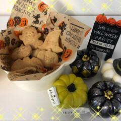 スイーツ/おやつ/お菓子/ハロウィン/クッキー/グルメ/... ハロウィンクッキー🎃👻🎃👻 プレーン&小…