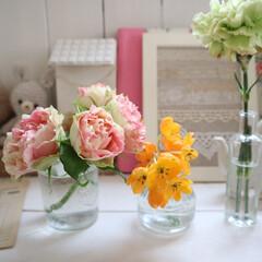 みんなにおすすめ/お花/ナチュラルインテリア/フレンチカントリー/花瓶 みんなにおすすめしたいこと♡ お花を小分…