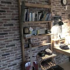 書斎スペース/書斎/雑貨/DIY/暮らし/おうち自慢 旦那の書斎です。 以前こちら...普通の…