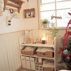 建売/クリスマスツリー/DIY/ハンドメイド/雑貨/ダイソー/... クリスマス♡ 1年で1番好きなイベントか…