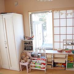 収納棚DIY/DIY/収納/雑貨/ハンドメイド/住まい/... こちらはbefore! 障子のころが既に…