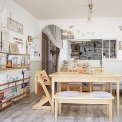 アーチ壁/フレンチカントリー/ナチュラルインテリア/建売住宅/おうち/DIY/... 自分でせっせと作ったアーチの壁がお気に入…
