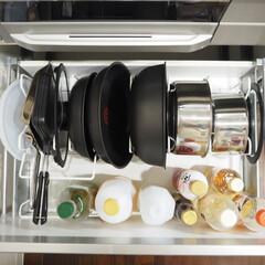 T-fal インジニオ ネオ IHステンレス エクセレンスセット6 ティファール | ティファール(圧力鍋)を使ったクチコミ「お鍋とフライパン収納が新しくなりました。…」