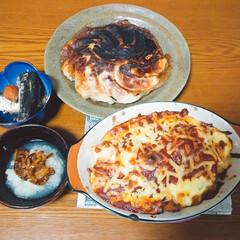 いわしの梅干煮/野菜炒め/グラタン/ドリア/餃子/娘の料理/... 今日も娘と一緒に夕飯作りに挑戦✨ 数日前…