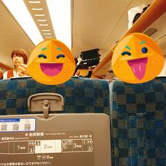 屋上テラス/新幹線/家族でおでかけ/フォロー大歓迎/おでかけワンショット/つばめ電車 週末は家族でおでかけしてきました😊 天気…