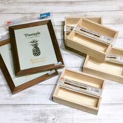 木製ボックス/フォトフレームDIY/フォトフレーム/箸置き収納/箸置きディスプレイ/箸置き入れ/... 木製ボックス2個のサイズに合わせてフォト…(3枚目)