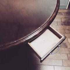 小物入れ/収納便利/smilemind/spr20xx/SPR/収納スペース/... テーブルの下に引き出しを付けました。  …