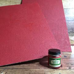 ペイント/セリア/smilemind/SPR/セメント風/コンクリート風/... セリアの板 塗装進行中👍 前投稿のセメン…