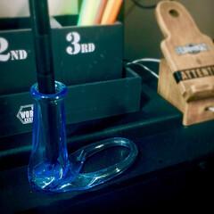 瓶加工/瓶/ペン立て/ロハスフェスタ万博/ガラス加工/ガラスアート 【リグラスさんの瓶シリーズ】 去年のロハ…(2枚目)