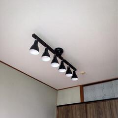 シーリングライト/工事完了/天井貼り替え/貼り替え/工事の準備 天井工事が完了👷♂️ シーリングライト…