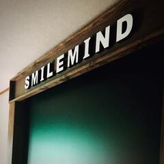 ニッペホームプロダクツ WOOD LOVE VINTAGE WAX ウォルナット 160g B   ニッペホームオンライン(ワックス)を使ったクチコミ「SMILEMIND 取り付け完了🙋♂️…」(2枚目)
