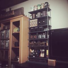 アイアンハンドル/取っ手/収納棚DIY/収納棚/収納アイデア/収納/... 板材と長ネジでDIY用ラックを お盆休み…
