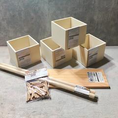 シェルフDIY/キューブボックス/檜/100均DIY/ダイソー/セリア セリアの購入品。 キューブボックス 檜の…