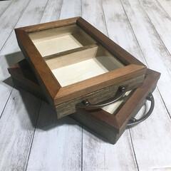 木製ボックス/フォトフレームDIY/フォトフレーム/箸置き収納/箸置きディスプレイ/箸置き入れ/... 木製ボックス2個のサイズに合わせてフォト…(2枚目)