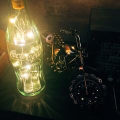 いいねありがとう/コルク栓ジュエリーライト/コルク栓ライト/ガラスアート/ガラス加工/コカコーラの瓶/... いつもいいね! ありがとうございます😊 …