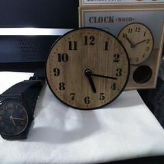 時計/キャンドゥ/雑貨/住まい キャン・ドゥ。 小さな時計。 壁掛けも出…