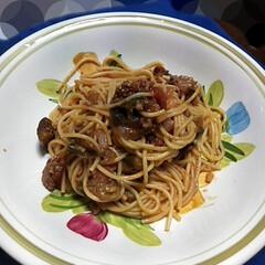 スパゲティー/晩ごはん/簡単/節約/スタミナ丼/夏に向けて/... 今晩ごはんでした。 ナストマトタマネギミ…