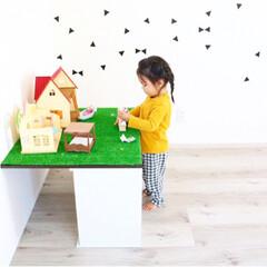 カラーボックス3段 | 不二貿易(カラー、キューブボックス)を使ったクチコミ「子供たちが大好きなシルバニアファミリー🐰…」