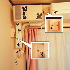 カフェ風インテリア/Cafe風/スイッチカバー/ディズニー/ミッキー/隠れミッキー/... スイッチカバー💡 作っちゃいました😆✨ …
