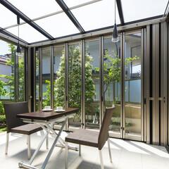 LIXIL/リクシル/エクステリア/ガーデンルーム/サンルーム/庭/... ♪ガーデンルームの施工事例♪⠀ リビング…