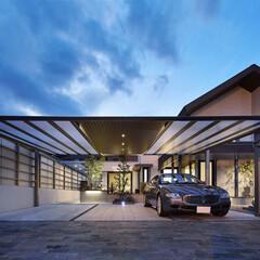 LIXIL/リクシル/アーキフィールド/カーポート/カーポート有/車庫/... ♪カーポートの施工事例♪⠀ 住宅のトーン…