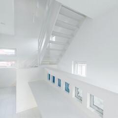 LIXIL/リクシル/階段/ホテルライク/ホテルライクインテリア/ホテルライクな家/... ♪階段・廊下の施工事例♪⠀ 真っ白なスケ…
