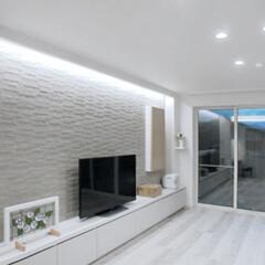 LIXIL/リクシル/エコカラット/ホテルライク/ホテルライクインテリア/ホテルライクな家/... ♪リビングの施工事例♪⠀ 断熱窓にする事…