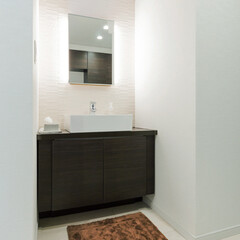 LIXIL/リクシル/洗面/パウダールーム/洗面化粧台/洗面所/... ♪洗面台の施工事例♪⠀ 来客用の洗面台で…