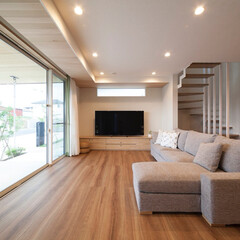 LIXIL/LIXILの窓/リクシル/床材/フローリング/フローリング材/... ♪リビングの施工事例♪⠀ 天井まで大きく…