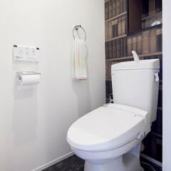 LIXIL/リクシル/トイレ/トイレインテリア/キレイなトイレ/トイレリフォーム/... ♪トイレの施工事例♪⠀ 本物の本棚をしつ…
