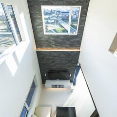 LIXIL/リクシル/エコカラット/タイル/室内タイル/住宅設備/... ♪吹き抜けリビングの施工事例♪⠀ リビン…