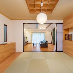 LIXIL/リクシル/和室インテリア/和室/和室リフォーム/和室リメイク/... ♪和室の施工事例♪⠀ リビングの床の色と…