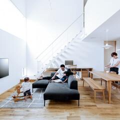 LIXIL/LIXILの窓/リクシル/窓/大きな窓/吹き抜けリビング/... ♪窓・リビングの施工事例♪⠀ 日中は照明…