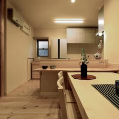 LIXIL/リクシル/対面キッチン/木のぬくもり/木の温もり/無垢材/... ♪リビング・ダイニングの施工事例♪⠀ 対…