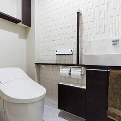 LIXIL/リクシル/INAX/イナックス/トイレ/トイレリフォーム/... ♪トイレの施工事例♪⠀ 壁面にはエコカラ…