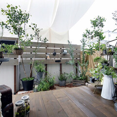 LIXIL/リクシル/ウッドデッキ/ウッドデッキの庭をリフォーム/ウッドデッキの庭リフォーム/ウッドデッキのある家/... ♪ウッドデッキの施工事例♪⠀ マンション…