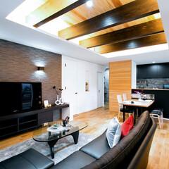 LIXIL/リクシル/エコカラット/室内タイル/タイル張り/内装リフォーム/... ♪LDKの施工事例♪ 掘り込み天井で空間…