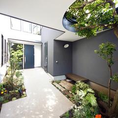 LIXIL/リクシル/玄関アプローチ/玄関ガーデニング/玄関周り/玄関まわり/... ♪玄関アプローチの施工事例♪⠀ イメージ…