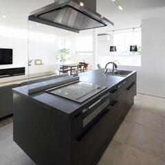 LIXIL/リクシル/リクシルキッチン/キッチン/リシェルSL/リシェル/... ♪キッチンの施工事例♪⠀ キッチンの床に…