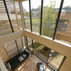 LIXIL/LIXILの窓/リクシル/大きな窓/吹き抜けリフォーム/吹き抜けリビング/... ♪リビングの施工事例♪⠀ 窓のサッシにフ…